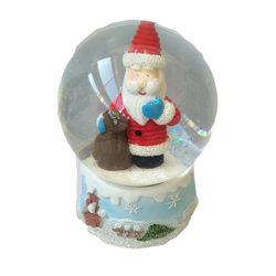 Tamanho Mini Santa Claus Globo de água de vidro para o Natal