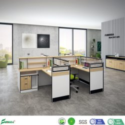 Mobilier moderne de l'armoire murale en aluminium Bureau de poste de travail de l'écran modulaire Salle de cloison en verre avec le Cabinet tiroir18207 (AP)