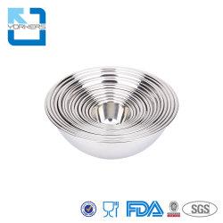 サイズの任意選択金属のスープボウルの台所ステンレス鋼サラダ混合ボール