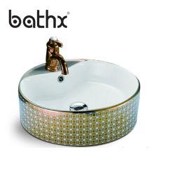 浴室のための商業カスタムたらいのキャビネットの流し、固体表面手の洗面器の流し