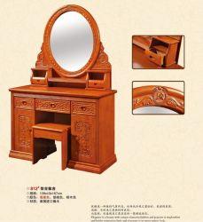 [درسّينغ تبل] كلاسيكيّة خشبيّة مع مرآة وكرسيّ مختبر
