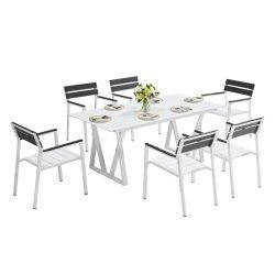 Moderno Restaurante de Aluminio de Ocio al Aire Libre Set Garden Home Table y Sillas Muebles de Comedor del Hotel