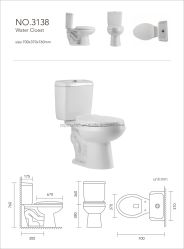 La porcelaine sanitaire salle de bain WC Design Siphonic siège de toilette en céramique