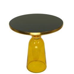 متأخّر تصميم زجاجيّة [رووند توب] معدن [ستينلسّ ستيل] نوع ذهب لون جانب يعيش غرفة أثاث لازم يليّن [غسّ] حقيرة فنّ [كفّ تبل]