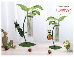 상반 재배자/유리제 꽃 화병/손에 의하여 불어지는 유리제 예술/유리제 예술/명확한 투명한 유리