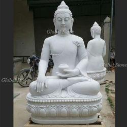 Hand geschnitzte Marmorsteinbuddha-Skulptur-Statue (GSS-176)