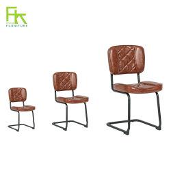 Cadeira de refeições de cozinha PU mobiliário de couro