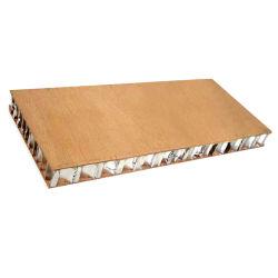 Couleur du bois d'aluminium panneau alvéolé pour usage industriel et des applications architecturales