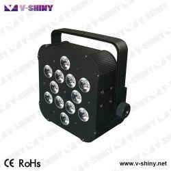 쉬운 운영 12PCS 4in1 LED 건전지 무선 편평한 동위 사건 빛