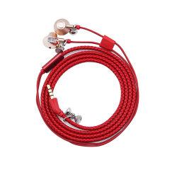 Téléphone mobile cuir synthétique in-ear écouteurs écouteurs casque tressé Bracelet Bracelet