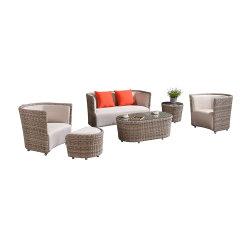 Originele Producten Pu Leather Sofa Wicker Sectional Sofa Set