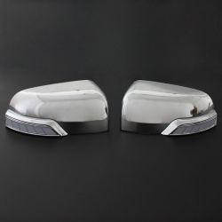 LED 순찰 경비대원 2012-2019년을%s 가벼운 차 부속품을%s 가진 최신 판매 크롬 사이드 미러 덮개