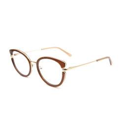 2020 Mengeling van de Acetaat van het Frame van de Acetaat van het Oog van de Kat van het Ontwerp van de Manier van de Tendens de Nieuwe Optische met Metaal Eyewear