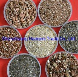 Het natuurlijke Gouden Ruwe Gouden Vermiculiet van het Vermiculiet Exanded van de Rem van het Vermiculiet Stootkussens Gebruikte