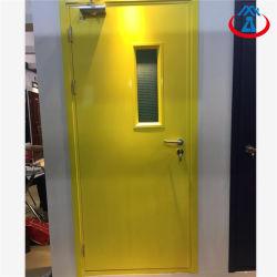 Metallo esterno/porta antincendio a prova di fuoco Rated interno con la finestra di vetro