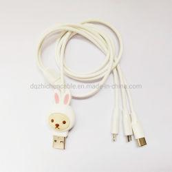 USB aan Micro & 8p aan Micro aan type-de Last van de Kabel van c- Gegevens verbindt de Kabel van de Bliksem van de Draad 3in1