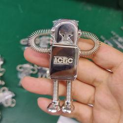 ばねのロボットDesingの自由なロゴの金属USBのフラッシュ駆動機構(16G)