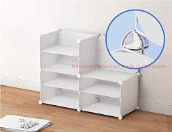 Cubo de alambre de conectores de plástico para almacenamiento armarios estanterías y Armarios Rack Modular Organizador de zapatos de hebilla de cierre de Clip