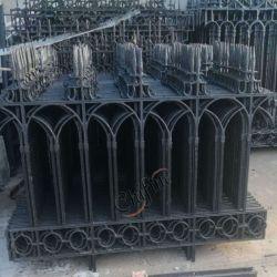 Valla de hierro fundido ornamentos para la decoración de jardín