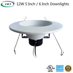 15W 6 polegadas Triac luz descendente de LED de intensidade regulável