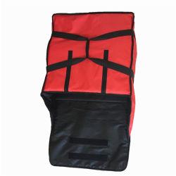Polyester sac du refroidisseur de pizza, personnalisé à bas prix des aliments en polyester étanche Réchauffement de la livraison de pizza refroidisseur de la vente en gros sac isotherme