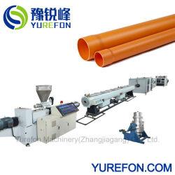 플라스틱 배수 도관 호스 튜브 컨ical Twin 스크류 압출기 PVC 파이프 압출 생산 기계 제작