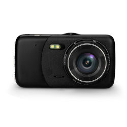 Carcasa metálica de grado superior de FHD 1080P de la Cámara de Grabación Dual Dash 4 pulgadas de pantalla grande de IPS HD DVR coche