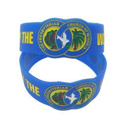 Custom экологически безвредные силиконовый браслет/резиновую ленту/Кремниевой запястья Band (WB26-B)
