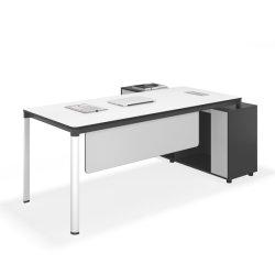 Neuer moderner L-förmiger Entwurfs-Tisch hölzerner Kraftstoffregler-Büro-vollziehendschreibtisch
