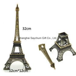 Il metallo perfezionamento la decorazione Bronze del modello della lega dell'annata della statua del Figurine della Torre Eiffel di Parigi
