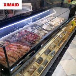 Sichere Sushi-rechtwinkliges Glastür-Einkommen