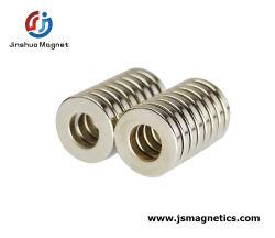 強い産業ネオジムのモーターN48亜鉛のための薄い磁石のリングは塗った