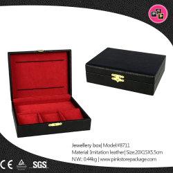 Bijoux de luxe en cuir personnalisé de la musique d'affichage boîte cadeau de stockage de l'emballage (8711)