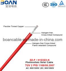 Zz-F/H1z2z2-K/PV1-F photo-voltaisches Solarkabel, TUV 2 Pfg 1169/08.2007, 0.6/1kv