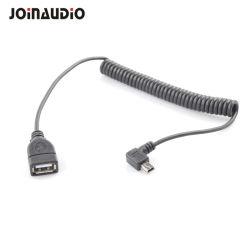 USBへの直角の伸縮性があるアダプター小型Bの男性デジタルカメラ(9.5428)のための女性のホストケーブル
