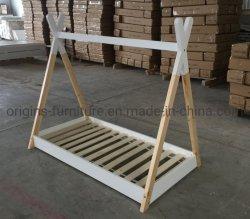 Los niños Tienda de madera de pino macizo Tipi estilo marquesina marco de la cama solo tamaño 3pies