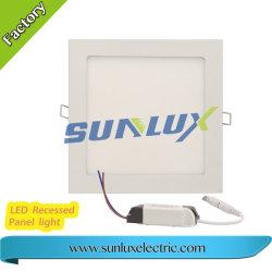 중국 제조, 둥근 Squre Slim LED 패널 조명, 3W 6W 9W 12W 18W 24W 85V-265V 2년 보증