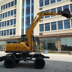 6 tonne roue mini-excavateur Digger Machine avec Gapple hydraulique de rotation de la vente directement en usine