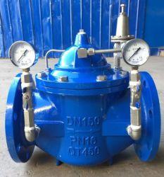 C. S CAT/CF8M/SS316/D. J'/ggg40/GG25 pilote à bride/Air/bride réglable/piston de soupape de réduction de pression/pression de soupape de réduction pour l'eau PN16/CL150