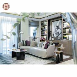 А также дизайн домашней мебели в гостиной кожаный диван металлические кофейный столик