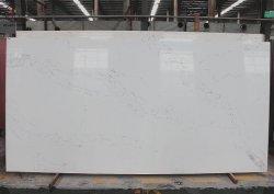 대리석같은 흰색 야경인 칼라카타 쿼츠 석판
