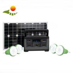 Unità tutta compresa a energia solare portatile domestica dell'invertitore 500W per il carico del telefono della macchina fotografica del computer portatile