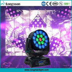 8 Grau RGBW 19X15W IP20 Zoom LED Farol em movimento