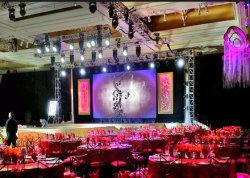 Gabinete de aluminio ligero de alquiler en el interior de la pared de vídeo pantalla LED de iluminación de escenario para mostrar