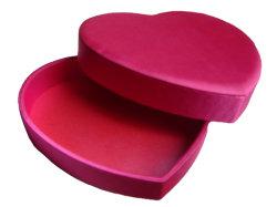Forma de calor vermelho Storge Chocolate Acetinado de papel de embalagem