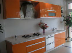 Kitchen를 위한 Full Bullnose Edge를 가진 백색 Polished Solid Surface Countertop