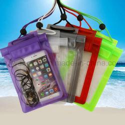 Оптовая торговля ПВХ водонепроницаемый мешок на пляже для мобильного телефона