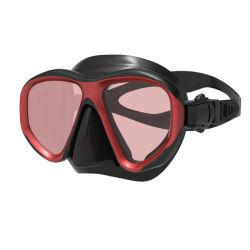 Nieuwe het Duiken van de Steekproef van het Frame van de Kleur van het Embleem van de Douane van de Riem van de Rok van het Silicone van de Lens van de Spiegel van het Glas van het Ontwerp AntiMist Aangemaakte Duurzame Vloeibare Vrije Beschermende brillen