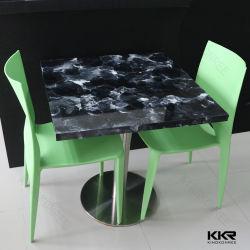 현대 단단한 지상 가정 가구 대리석 기본적인 테이블을%s 가진 돌 식사 커피용 탁자 두바이 거실