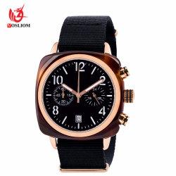 Horloge van de Paren van mannen en van Vrouwen het Multifunctionele Zwarte Nylon - V116